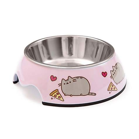 Pusheen Pizza Stainless Steel Cat Bowl