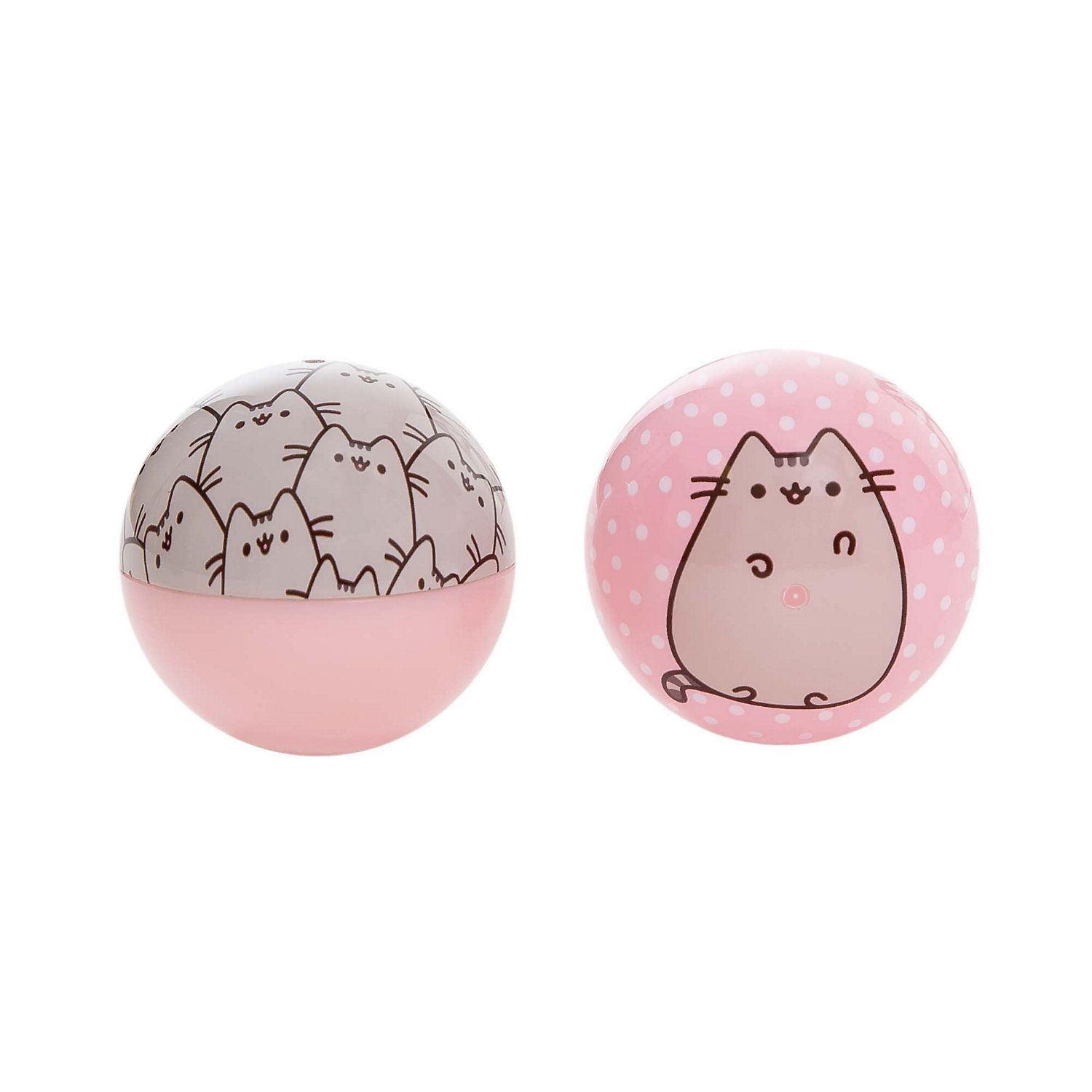 Pusheen Patterned Ball with Bell Cat Toy, 2 Pack