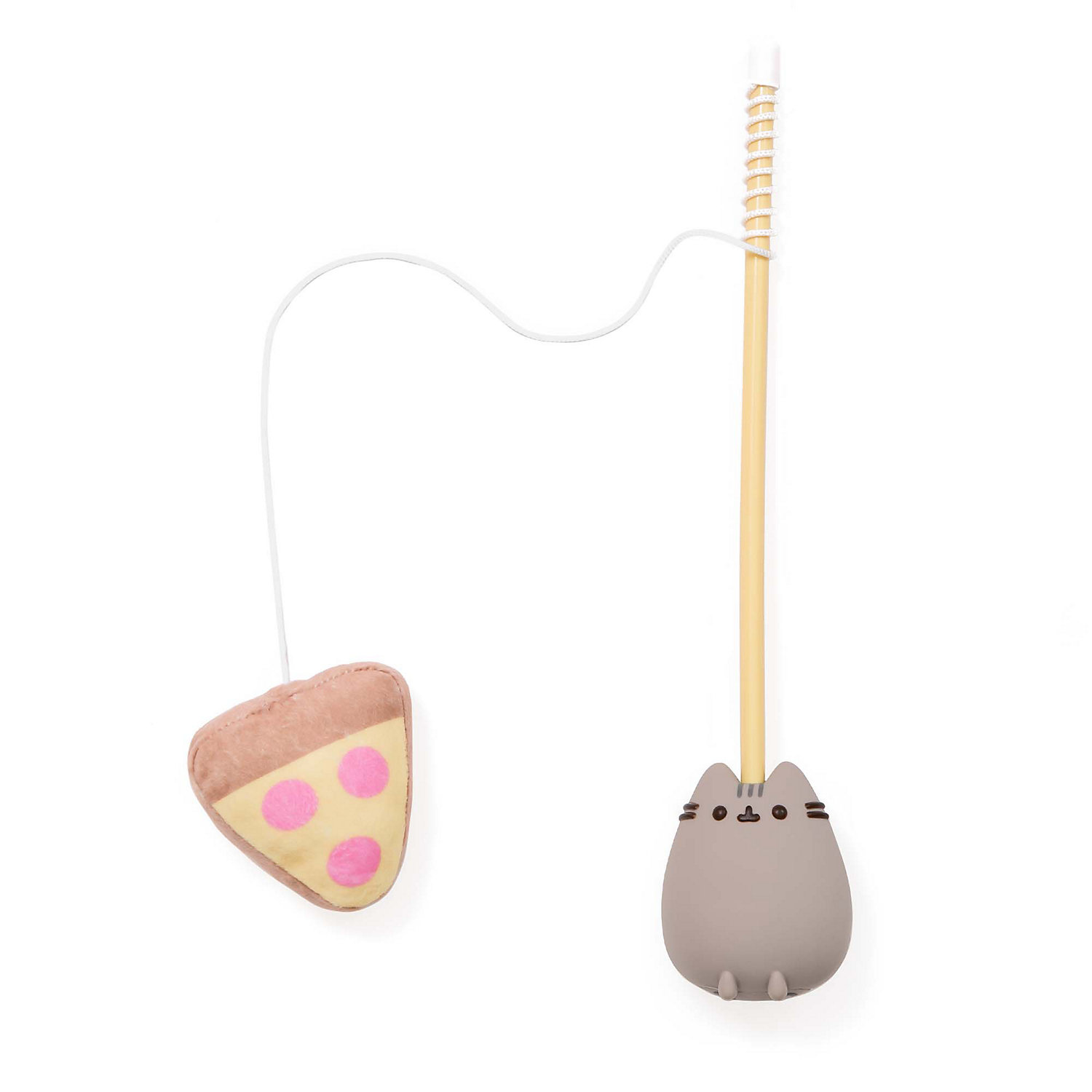 Pusheen Pizza Cat Teaser Toy, One Size Fits All, Yellow