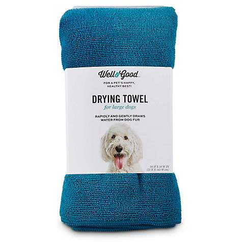 Well & Good Blue Drying Towel for Dogs