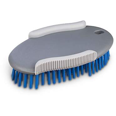 Well & Good Blue Oval Bristle Dog Brush