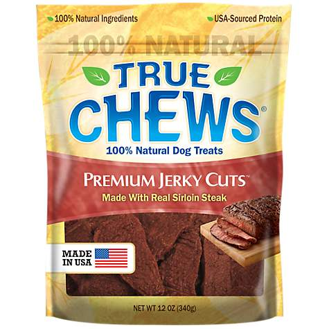 True Chews Premium Jerky Cuts Made with Real Sirloin Steak Dog Treats