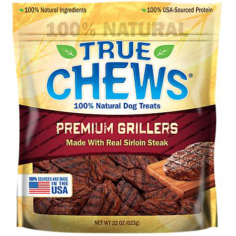 True Chews Premium Grillers Made with Real Sirloin Steak Dog Treats