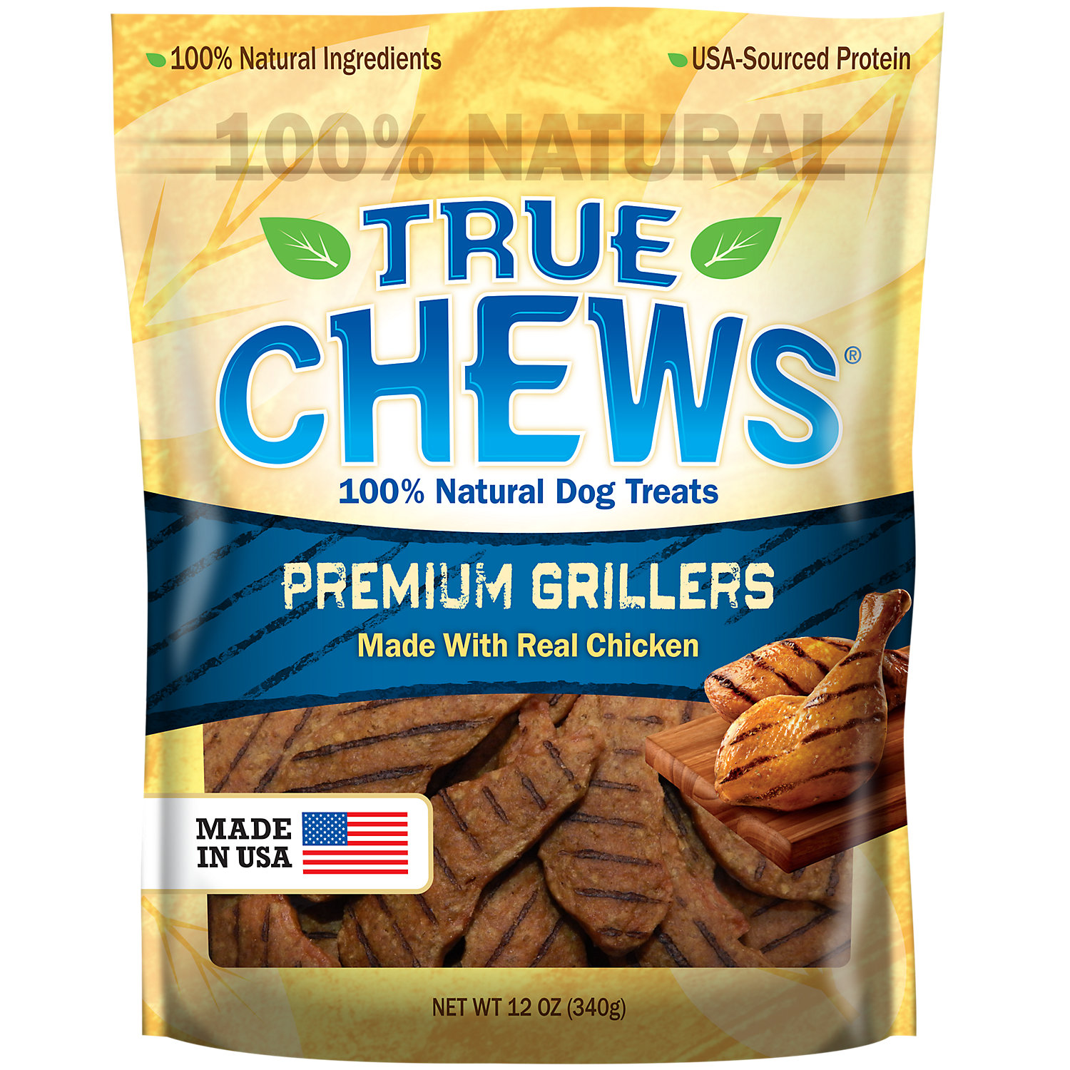 True Chews Premium Grillers Made With Real Chicken Dog Treats 12 Oz.