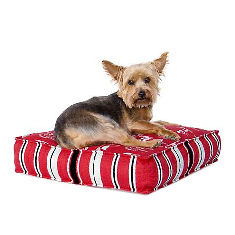 Perennials Everywhere Pet Bed in Red