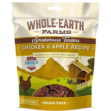 Whole Earth Farms Grain Free Smokehouse Tenders Chicken & Apple Recipe Dog Treats