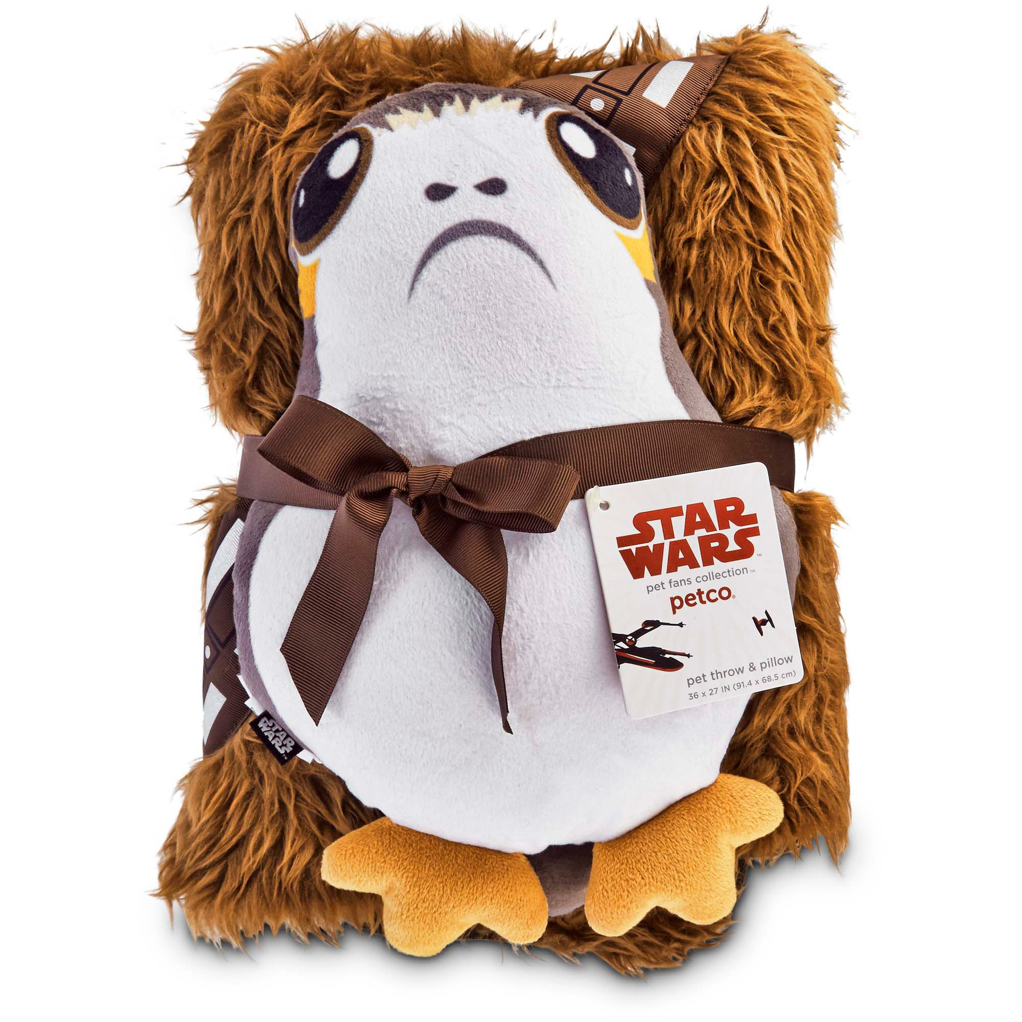 Star Wars Chewbacca Throw and Porg Pillow for Dogs | Petco