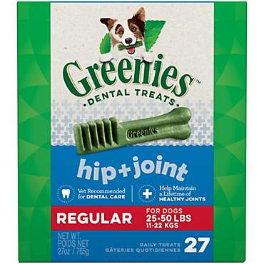 Greenies Hip and Joint Regular Dental Dog Chews