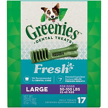 Greenies Fresh Large Dental Dog Treats