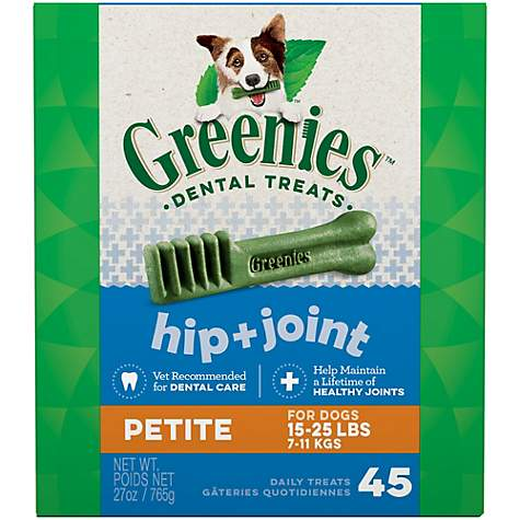 Greenies Hip and Joint Petite Dental Dog Chews