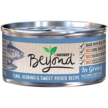 Beyond Tuna Herring & Sweet Potato Recipe in Gravy Adult Wet Cat Food