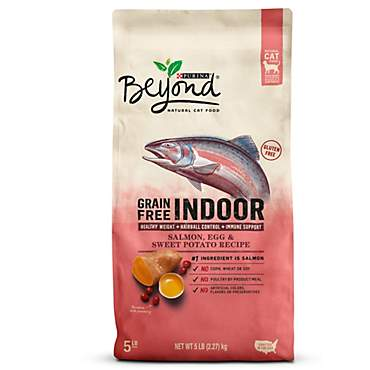 Beyond Indoor Grain Free Salmon, Egg & Sweet Potato Recipe Adult Dry Cat Food