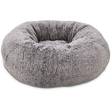 You Amp Me Gray Pouf Cat Bed Petco