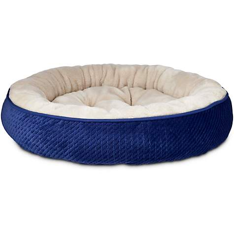 Harmony Textured Round Cat Bed in Navy