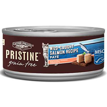Castor & Pollux Pristine Grain Free Wild-Caught Salmon Pate Recipe Canned Wet Cat Food