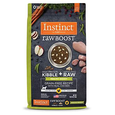 Instinct Raw Boost Healthy Weight Grain Free Recipe with Real Chicken Natural Dry Cat Food by Nature's Variety