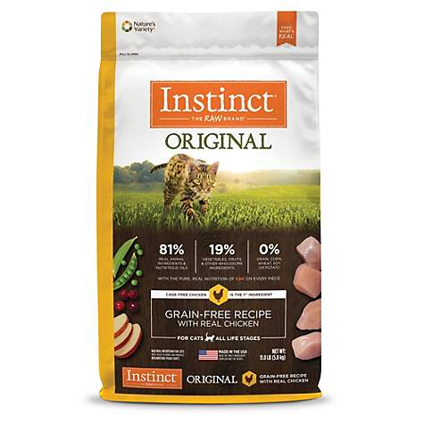Instinct Original Grain Free Recipe With Real Chicken Natural Dry