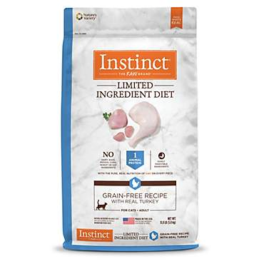 Instinct Limited Ingredient Diet Grain Free Recipe with Real Turkey Natural Dry Cat Food by Nature's Variety