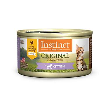 Instinct Kitten Grain Free Real Chicken Recipe Natural Wet Canned Cat Food by Nature's Variety