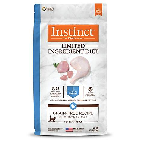 15bf534126 Instinct Limited Ingredient Diet Grain Free Recipe with Real Turkey Natural Dry  Cat Food by Nature s Variety