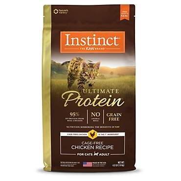 Instinct Ultimate Protein Grain Free Cage Free Chicken Recipe Natural Dry Cat Food by Nature's Variety