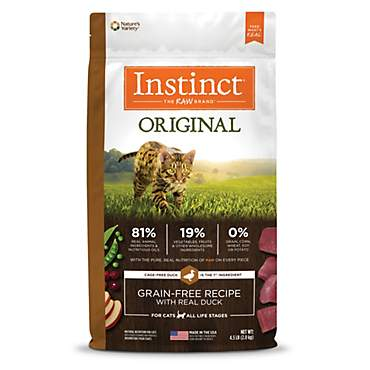 Instinct Original Grain Free Recipe with Real Duck Natural Dry Cat Food by Nature's Variety