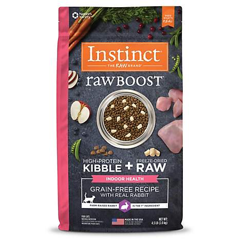 Instinct raw boost indoor health grain free recipe with real rabbit instinct raw boost indoor health grain free recipe with real rabbit natural dry cat food by forumfinder Choice Image
