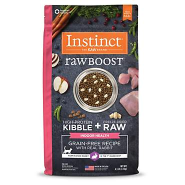 Instinct Raw Boost Indoor Health Grain Free Recipe with Real Rabbit Natural Dry Cat Food by Nature's Variety