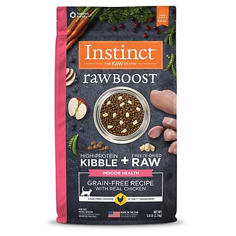 Instinct Raw Boost Indoor Health Grain Free Recipe with Real Chicken Natural Dry Cat Food by Nature's Variety