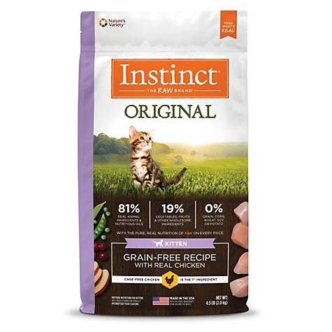 Instinct Original Kitten Grain Free Recipe with Real Chicken Natural Dry Cat Food by Nature's Variety