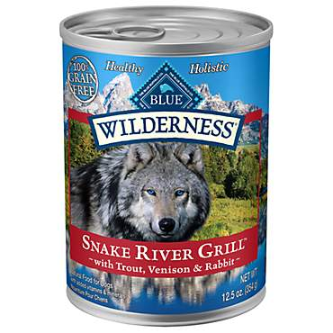 Blue Buffalo Blue Wilderness Snake River Grill Trout, Venison & Rabbit Wet Dog Food
