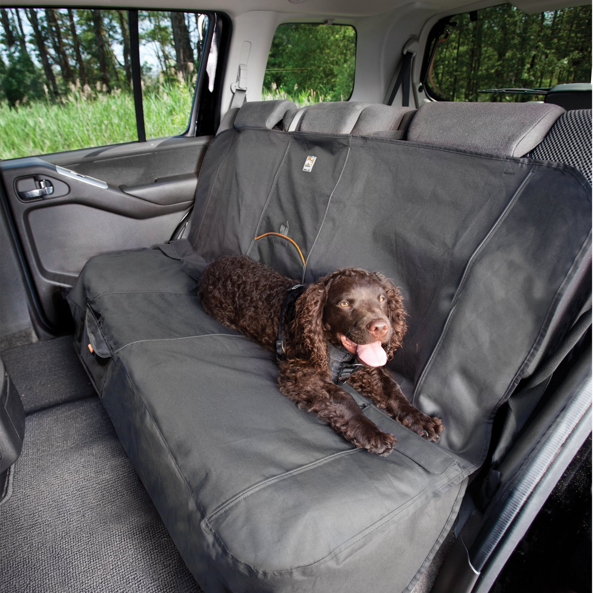 Car Bench Seat Covers >> Kurgo Extended Bench Seat Cover In Charcoal Petco