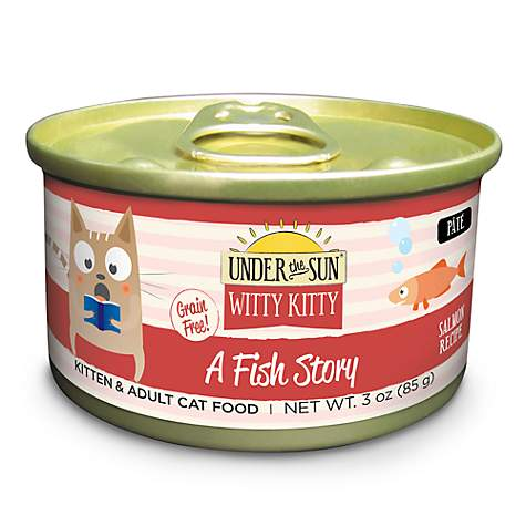 CANIDAE Under The Sun Witty Kitty A Fish Story Grain Free With Salmon Wet Cat Food