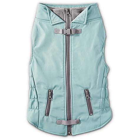 Good2Go Skidoo Dog Coat in Mint and Grey