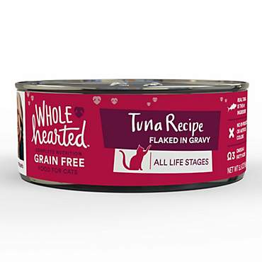 WholeHearted Grain Free Tuna Recipe Flaked in Gravy All Life Stages Wet Cat Food