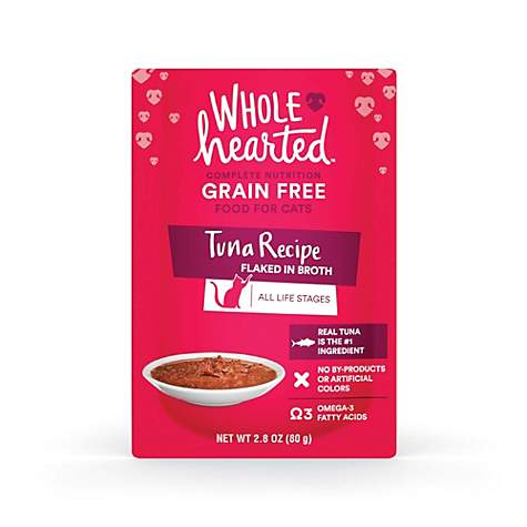WholeHearted Grain Free Tuna Recipe Flaked in Broth Wet Cat Food