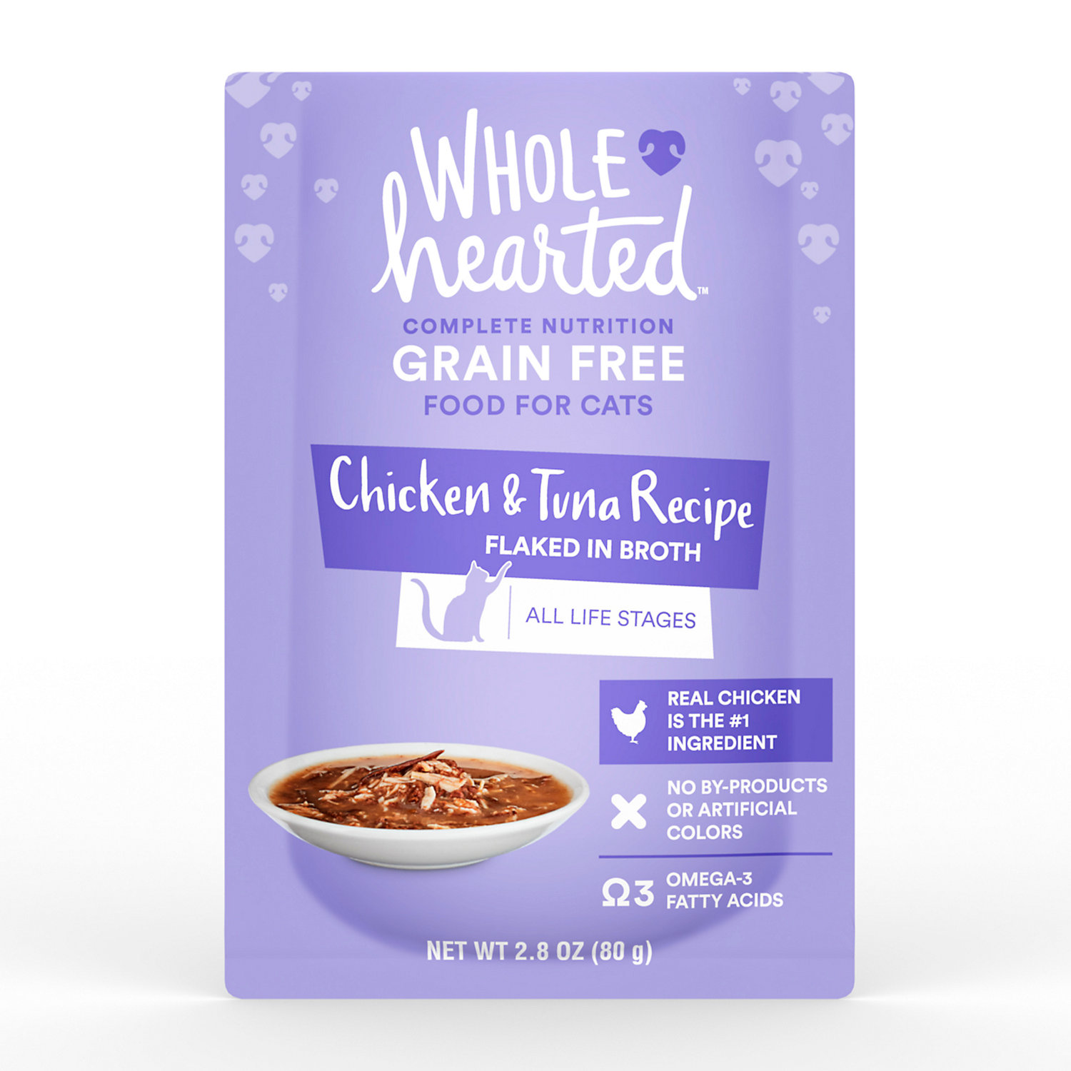 WholeHearted Grain Free Chicken Tuna Recipe Flaked In Broth Wet Cat Food - $8.28