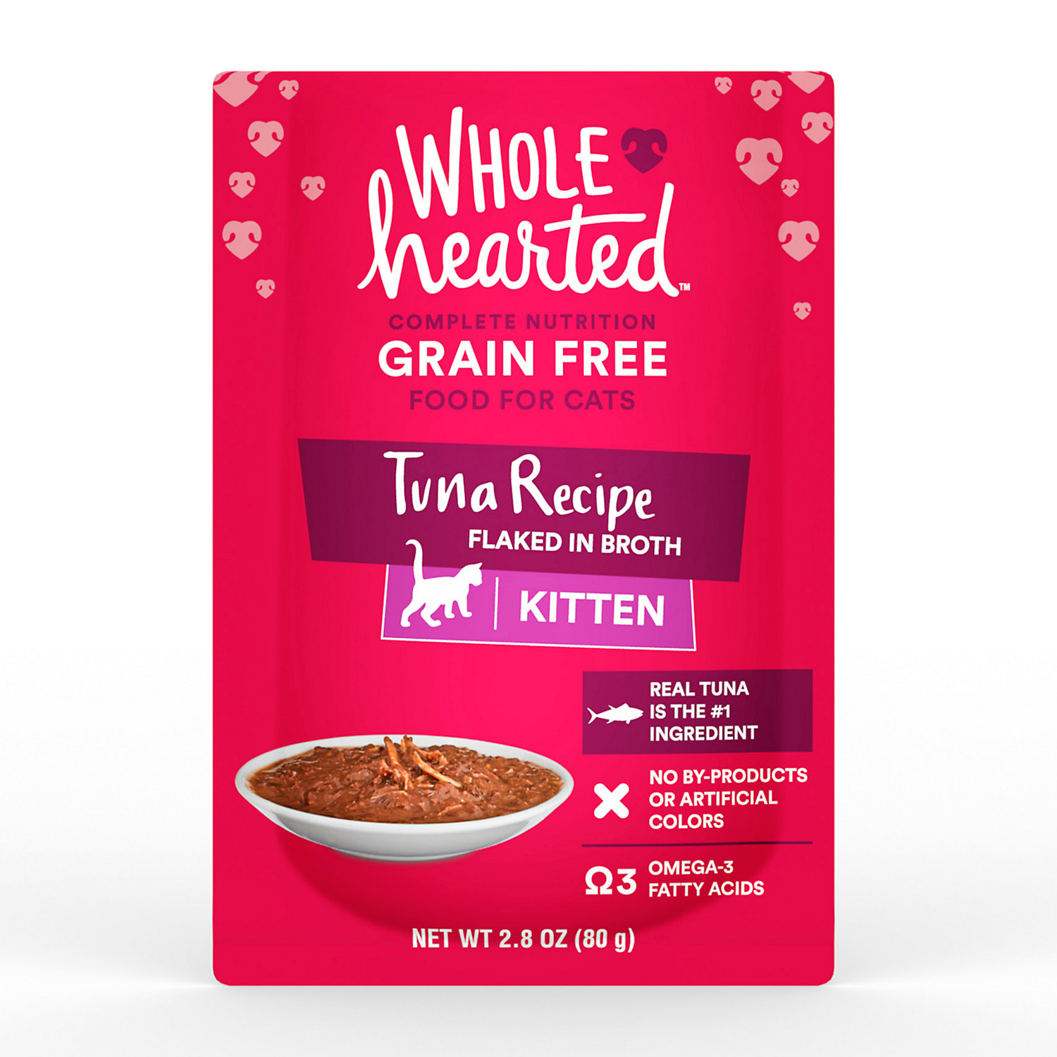WholeHearted Grain Free Tuna Recipe Flaked In Broth Wet Kitten Food - $6.00
