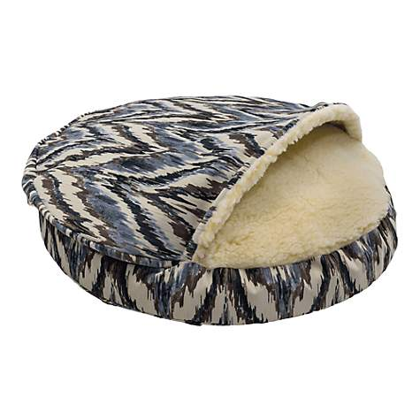 Snoozer Premium Micro Suede Cozy Cave Pet Bed in Tempest Indigo