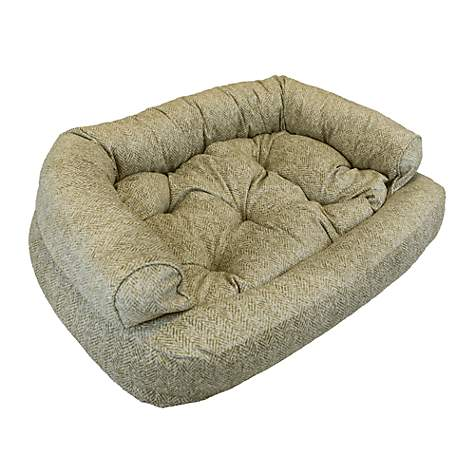 Snoozer Luxury Overstuffed Pet Sofa in Palmer Citron