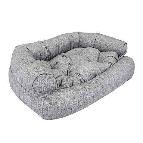 Snoozer Luxury Overstuffed Pet Sofa In Palmer Dove Petco