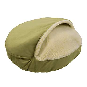Snoozer Luxury Micro Suede Cozy Cave Pet Bed in Lime