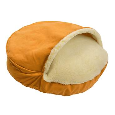 Snoozer Orthopedic Luxury Micro Suede Cozy Cave Pet Bed in Orange