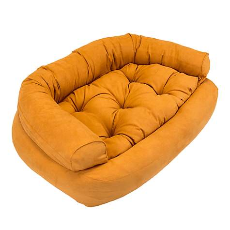 Snoozer Luxury Overstuffed Pet Sofa in Orange
