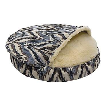 Snoozer Orthopedic Premium Micro Suede Cozy Cave Pet Bed in Tempest Indigo