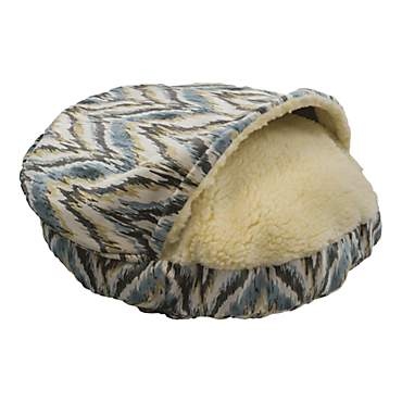 Snoozer Orthopedic Premium Micro Suede Cozy Cave Pet Bed in Tempest Spring