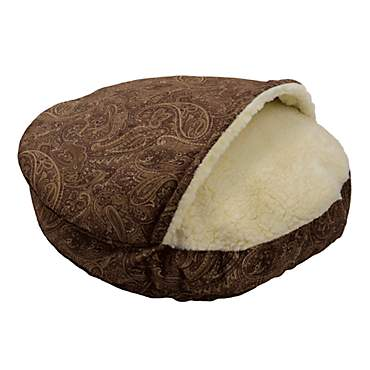Snoozer Orthopedic Premium Micro Suede Cozy Cave Pet Bed in Cayenne