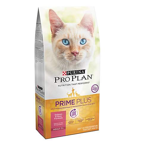 Purina Pro Plan Prime Plus Adult 7+ Salmon & Rice Formula Dry Cat Food
