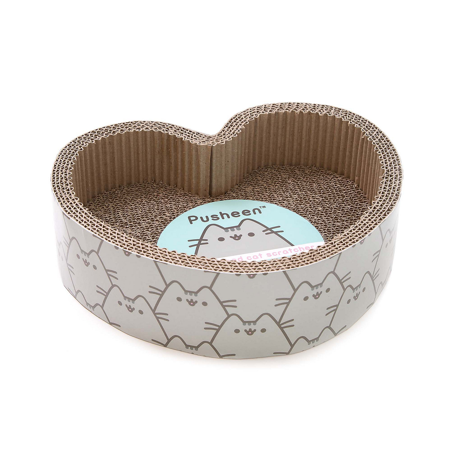 Pusheen Heart-Shaped Cat Scratcher, Medium