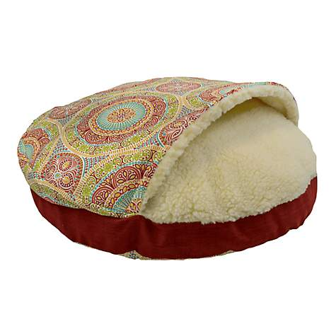 Snoozer Orthopedic Indoor Outdoor Cozy Cave Pet Bed in Delancy Jubilee